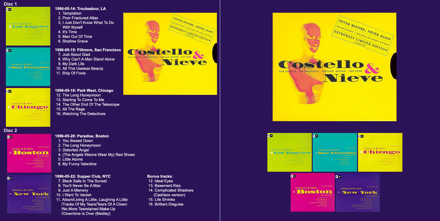 The Elvis Costello Home Page - Discography: Bootlegs: Artwork