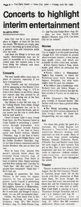 1982-07-30 University Of Iowa Daily Iowan page 06 clipping 01.jpg