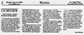 2003-09-25 Wisconsin State Journal, Rhythm page 02 clipping 01.jpg