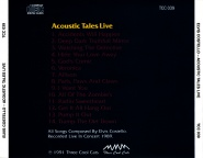 Bootleg: Acoustic Tales Live - The Elvis Costello Wiki