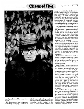 Marxism Today, August 1984 - The Elvis Costello Wiki