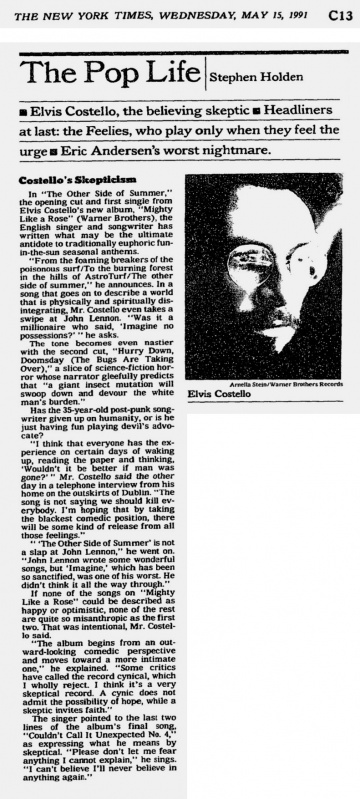 1991-05-15 New York Times page C13 clipping 01.jpg