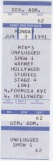 1991-06-03 MTV Unplugged ticket.jpg