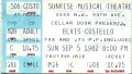 1982-09-05 Sunrise ticket 1.jpg